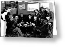 High Stakes Poker - 1913 Greeting Card