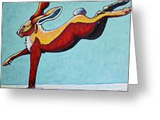 High Tailing It - Jackrabbit Greeting Card