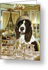 High Tea At The Ritz Greeting Card