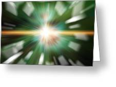High Tech Style Exploding Background Image Greeting Card