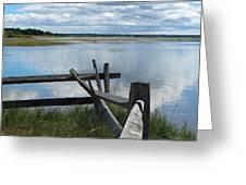 High Tide Lieutenant Island Marsh Greeting Card