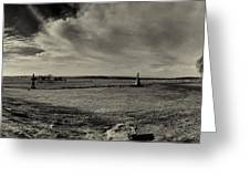 High Tide Of The Confederacy Black And White Greeting Card