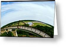 High Trestle Bridge Greeting Card by Garren Zanker