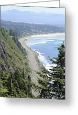 High View Of Oregon Coast Greeting Card