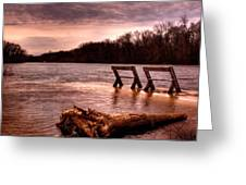 High Water On The Wolf River Greeting Card