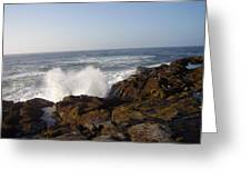 High Wave At The Oregon Coast Greeting Card by Yvette Pichette