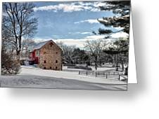 Highland Farms In The Snow Greeting Card