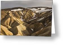 Highlands Fjallabak Nature Reserve Greeting Card