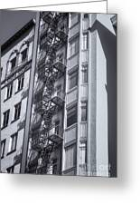 Highrise Fire Escape Selenium Greeting Card