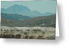 High And Low Mountain Layers Greeting Card
