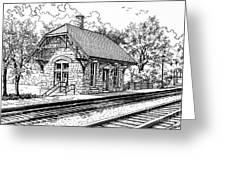 Highlands Train Station Greeting Card