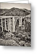Highway 1 Greeting Card by Heather Applegate