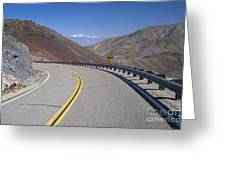 Highway 190 Greeting Card by Chris Selby