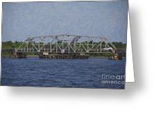 Highway 41 Swing Bridge Over The Wando River Greeting Card