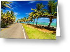 Highway And Coast Greeting Card