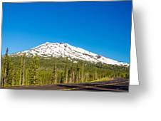 Highway Passing By Mountain Greeting Card