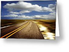 Highway Run Greeting Card