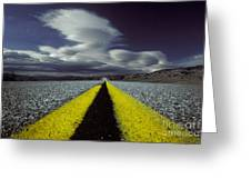 Highway Through Death Valley Greeting Card