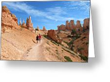 Hike In Bryce Canyon Greeting Card