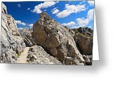 hike in Dolomites Greeting Card