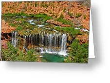 Hike Into Havasupai  Greeting Card by Michael J Bauer
