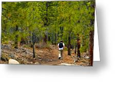 Hike On 2 Greeting Card