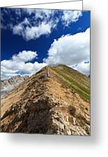 Hiker On Mountain Ridge Greeting Card