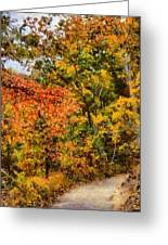 Hiking In Autumn Greeting Card