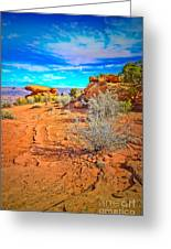 Hiking In Canyonlands Greeting Card