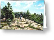 Hiking In Maine Greeting Card