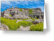 Hiking In The Badlands Greeting Card
