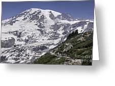 Hiking Mt Rainier Greeting Card