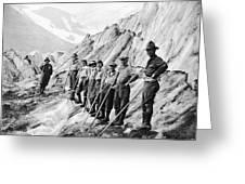 Hiking Up Mt. Rainier Greeting Card
