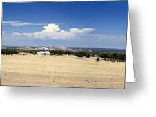 Hill Country And Enchanted Rock Panorama Greeting Card