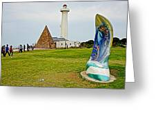 Hill Lighthouse Built In 1861 And Donkin Memorial Pyramid Honoring The Wife Of Sir Rufus Donkin-sout Greeting Card