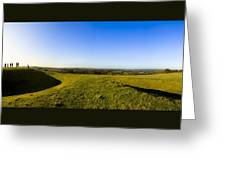 Hill Of Tara - Landscape Panorama Greeting Card by Mark E Tisdale