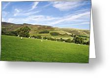 Hill Range North Of Edale Greeting Card