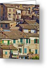 Hill Town Village Of Cortona Greeting Card