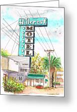 Hillcrest Motel In Route 66 - Andy Devine Ave In Kingman - Arizona Greeting Card