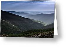 Hills And Valleys Greeting Card