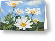 Hills And White Daisies Greeting Card by James Derieg