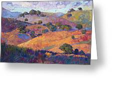 Hills Of Paso Greeting Card by Erin Hanson