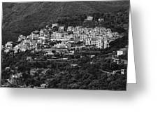 Hillside Amalfi Coast Greeting Card