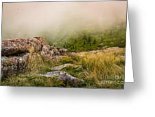 Hillside Haze Greeting Card