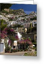 Hillside Positano Greeting Card