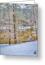 Hillside Snow - Winter Landscape Greeting Card