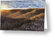 Hillside Sunset Greeting Card