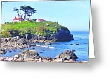 Hilltop Lighthouse Greeting Card