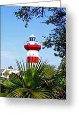 Hilton Head Lighthouse And Palmetto Greeting Card