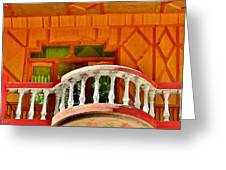A Beautiful Balcony - Himalaya India Greeting Card